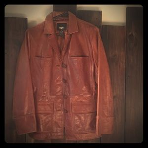 Beautiful brown leather jacket